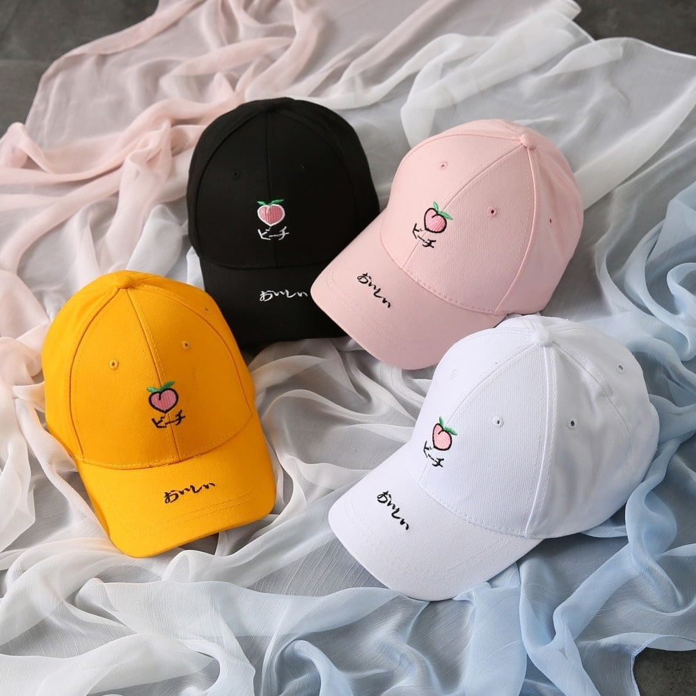 Peach Emoji Hat (3 Colors)